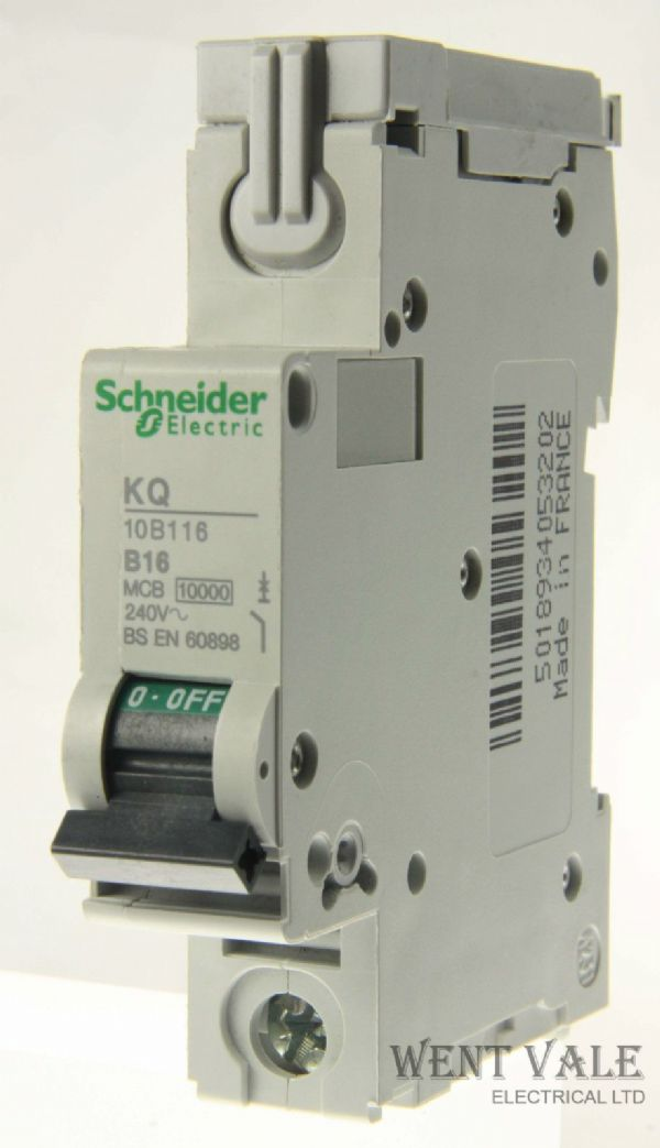 Schneider Loadcentre - KQ10B116 - 16a Type B Single Pole MCB Used